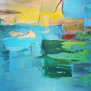 """Sunset Dreams"", Oil on Canvas, 12"" x 12"""