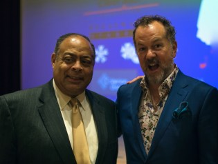 BROADWAY STAGES GUEST AND FRIEND BRONX SUPREME COURT HON. MARC WHITEN AND ACTOR DAVID COSTABILE