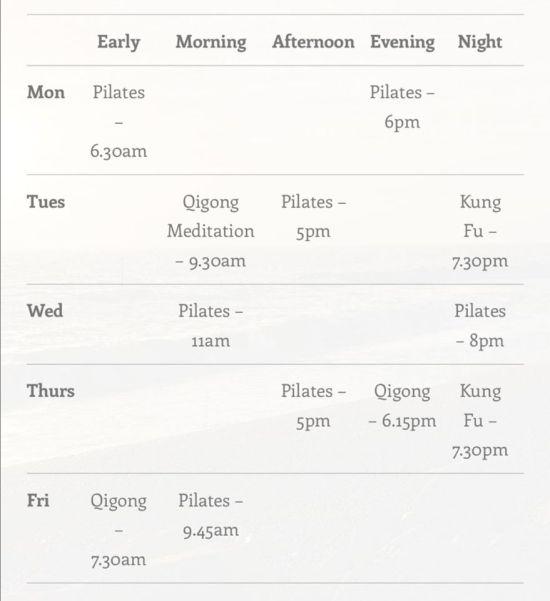 Leon's timetable