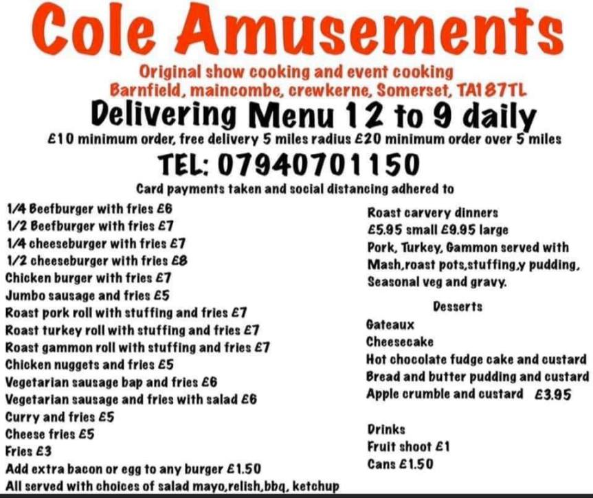 Cole's Takeaway - Crewkerne