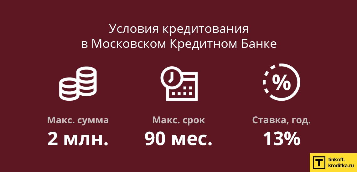 кредитный калькулятор московский кредитный банк потребительский кредит китай занимает первое место