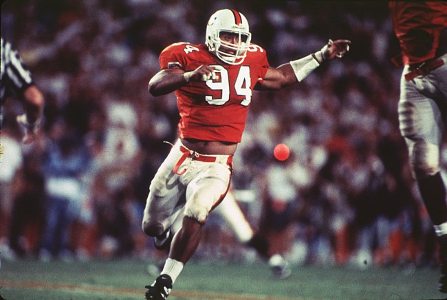 Former Miami Hurricanes greats Warren Sapp says Dwayne 'the Rock' Johnson got a lot of his WWE catchphrases from Ed Orgeron