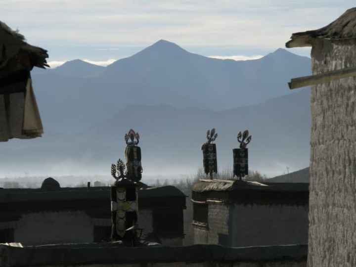 Drepung monastery in the morning