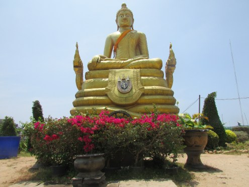 We saw some interesting statues at the top that we hadn't seen in other parts of Thailand