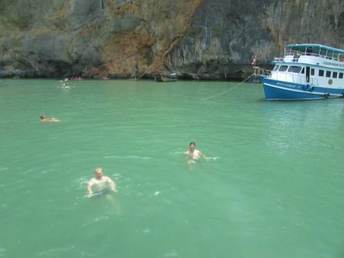 Nice refreshing dip in the Andaman Sea