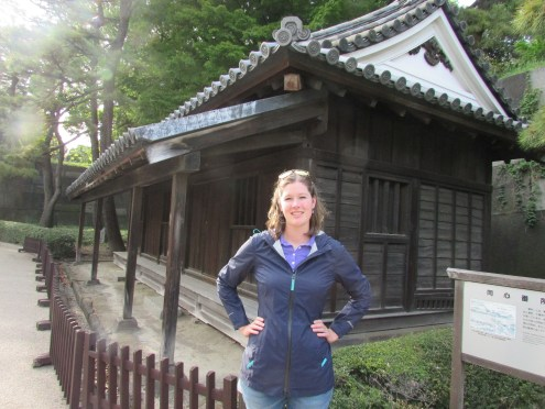 This guardhouse is where the samurais who guarded the Emperor lived