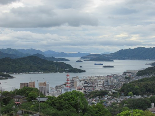 Looking westward to the islands beyond Onomichi