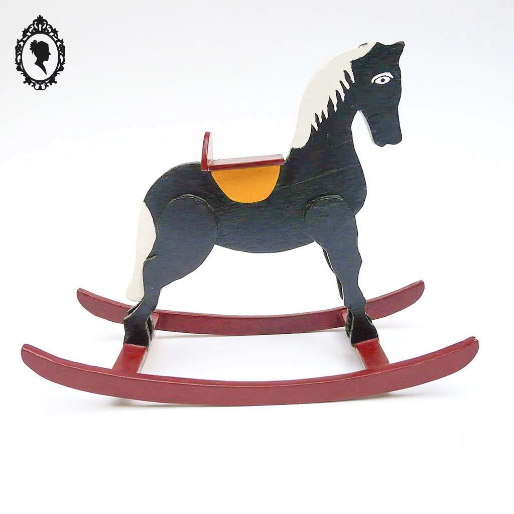 Jouet jeux en bois petit cheval à bascule
