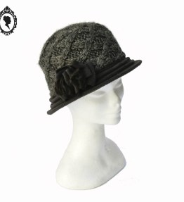 1 Chic Chapeau femme laine hiver marron NEUF Taille S