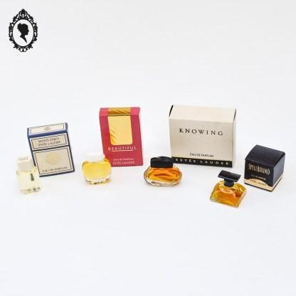 Miniature de parfum, miniature de parfum femme, miniature, parfum, petit parfum, parfum Paris, Estee Lauder, Lauder, White Linen, Beautiful, Knowing, Spellbound, miniature lauder, lot miniatures estee Lauder, miniature neuve, collection parfum, parfumerie, objet de parfumerie, parfum luxe, luxe, parfum femme, miniature rare, miniature collection, miniature de parfum, miniature à collectionner, lot miniatures de parfum, lot miniature, lot miniatures,