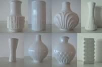 KPM og white on white vaser
