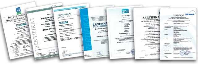 Umwelttechnik Zertifikate