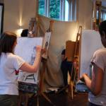 Art class above a pub