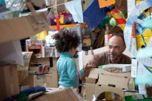 Cardboard City at Leander Centre, Deptford