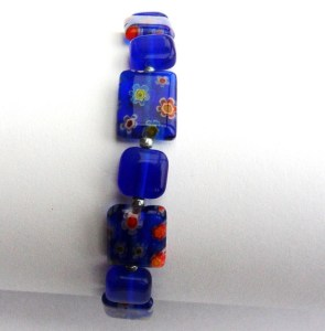 Photo of a blue bracelet