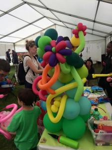 Balloon modelling in the Magical Marquee