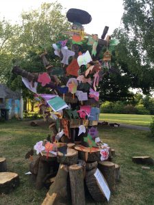 Festival goers were invited to contribute to the Festival Tree