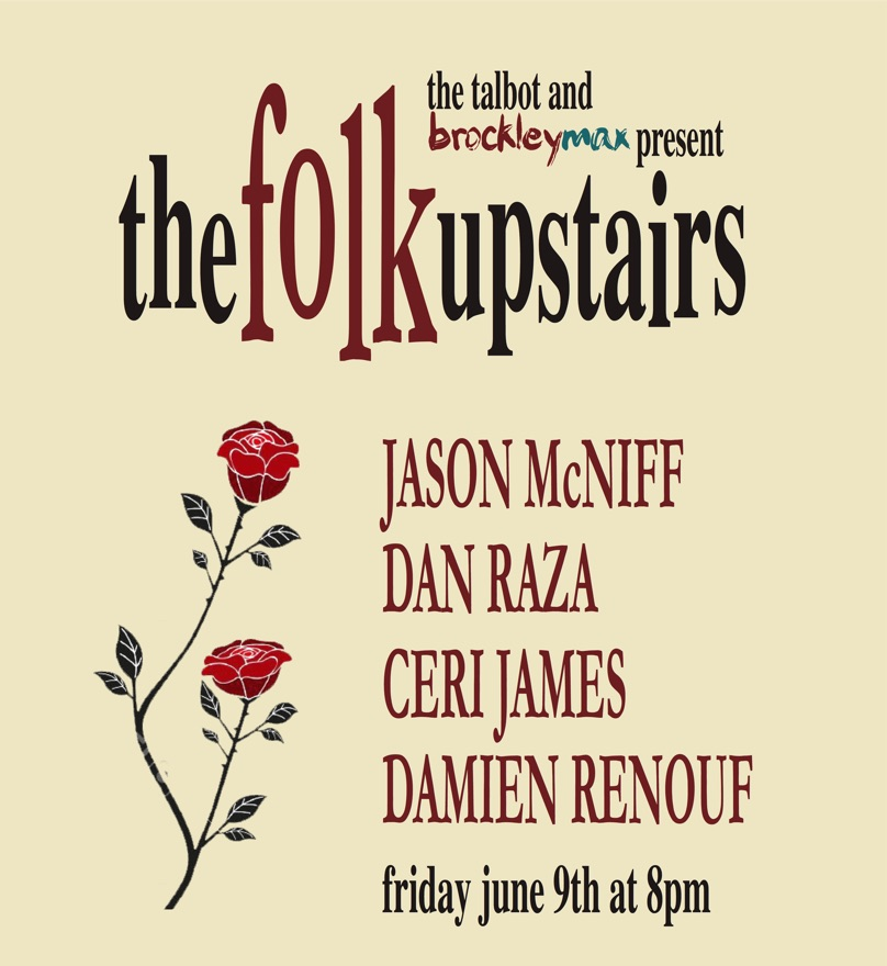 The Folk Upstairs - Friday 9th 2017