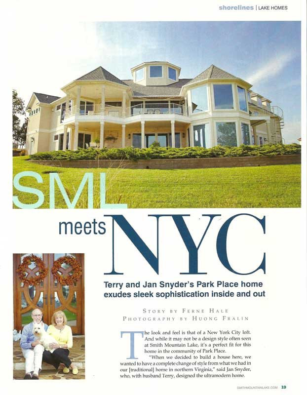 BrockWorks Custom Home Featured in Smith Mountain Laker Magazine