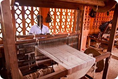 Métier à tisser au Mali