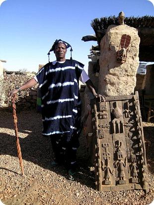 tenue traditionelle Dogon indigo