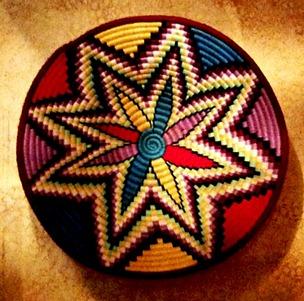 vannerie éthiopienne décorative