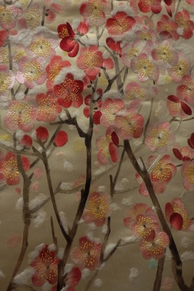 Prunus sous la neige Broderie Xiang