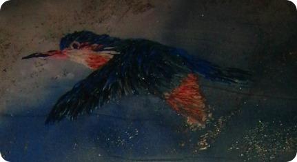 Oiseau en broderie ruban par Michiko Nomura