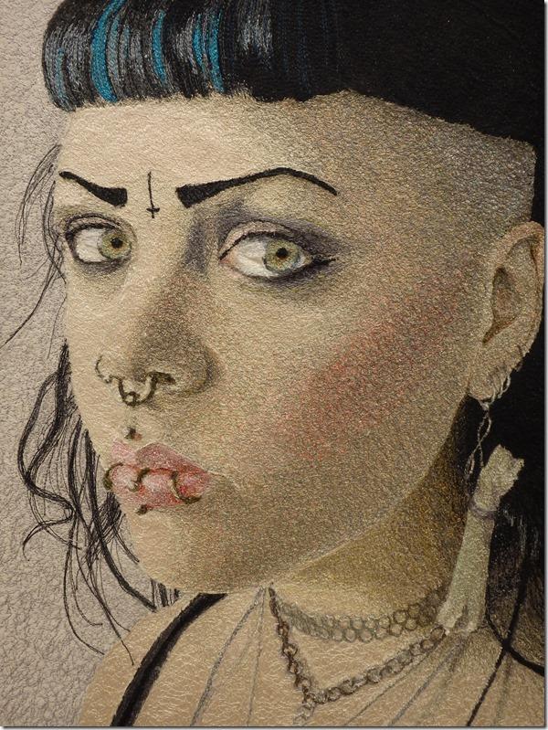 tableau textile punk Malin Lager