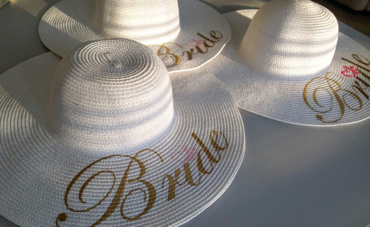 """Бродерия върху шапка """"Bride"""""""