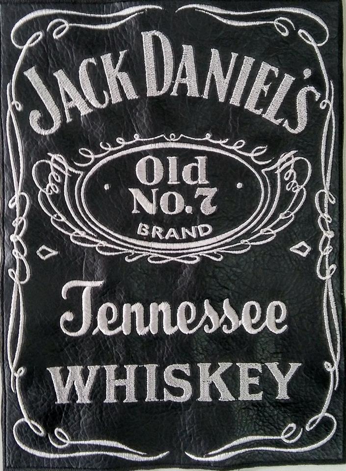 """Бродерия върху кожа """"Jack Daniels"""""""