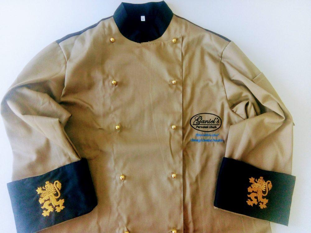 Бродерия върху готварска униформа