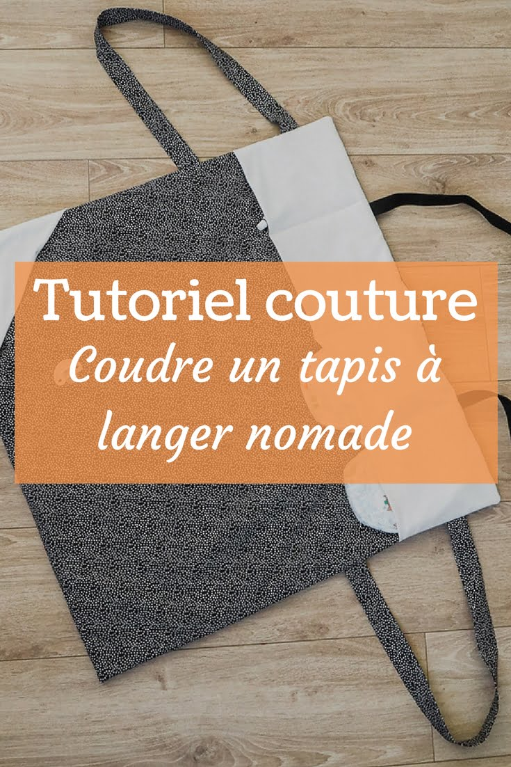 tuto couture tapis a langer nomade et