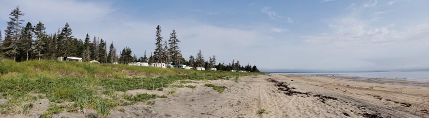 Plage du camping de la Pointe-aux-anglais
