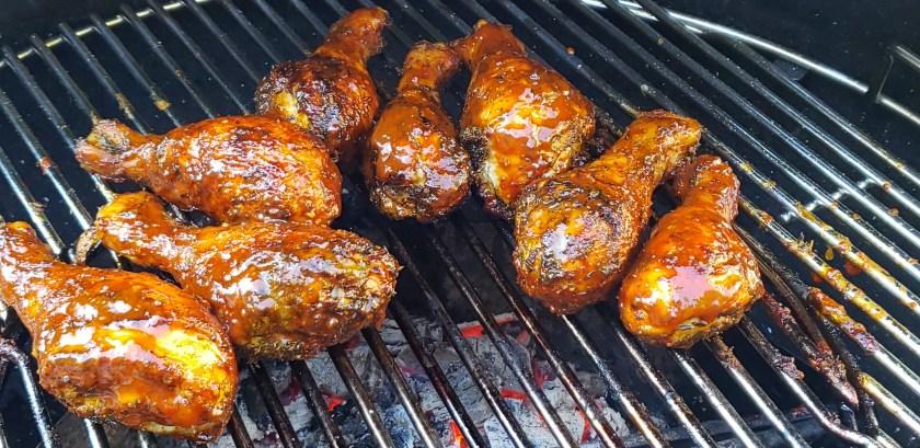 poulet cuit sur le bbq sauce au sirop de bouleau