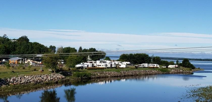 camping halte au bord du fleuve et à la rivière du Chêne à Leclercville