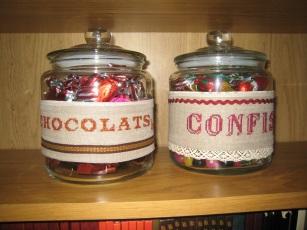 bocaux chocolats confiseries
