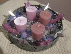 décoration bougies plat métal