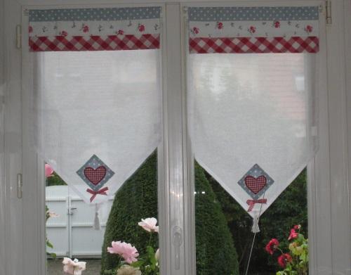 rideaux ma cuisine rouge et grise