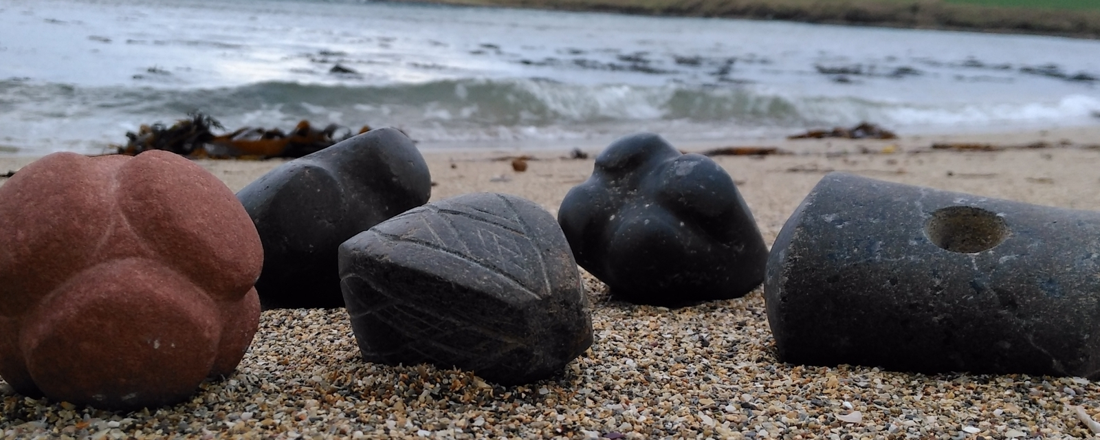 Selection of Neolotic carved stone objects by Chris Gee