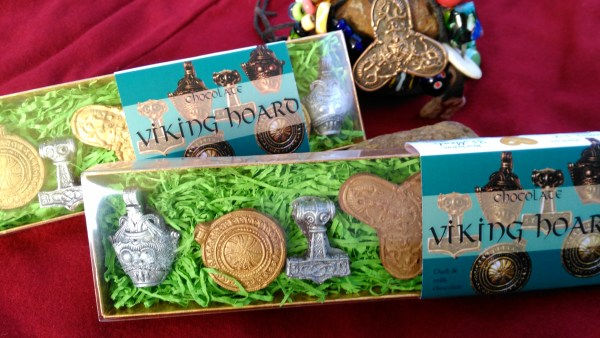 """Ingibjorg the fair widow"" 2 boxes of Viking Hoard chocolates based on Scandinavian Viking jewellery."