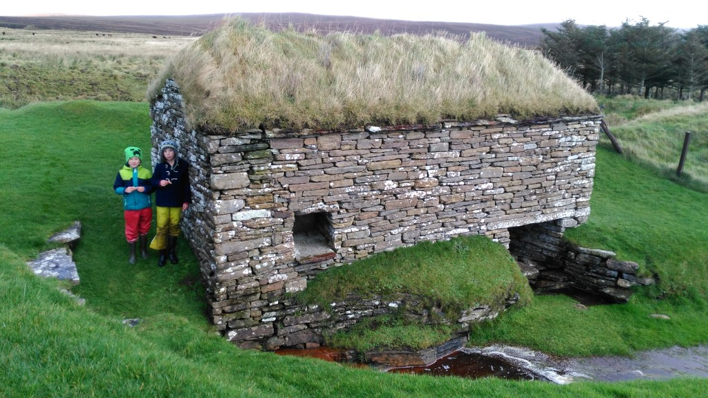 Clickmill, or horizontal water mill, near Dounby. Mills of this type were once common in Orkney, and a Norse example has been excavated in Orphir.