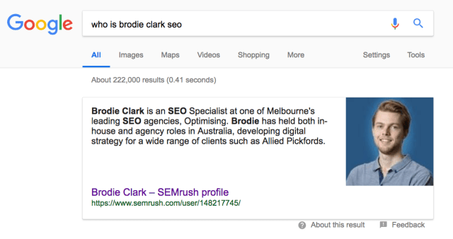 brodie clark seo featured snippet