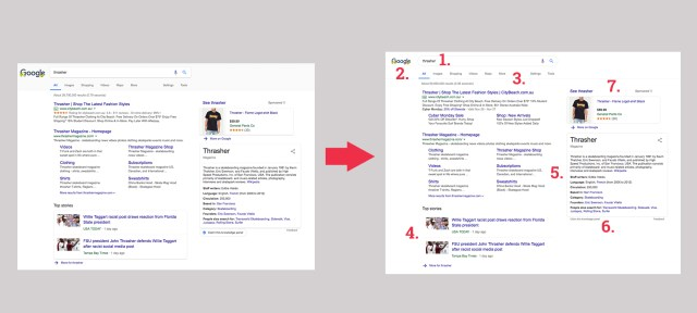 google testing new design features