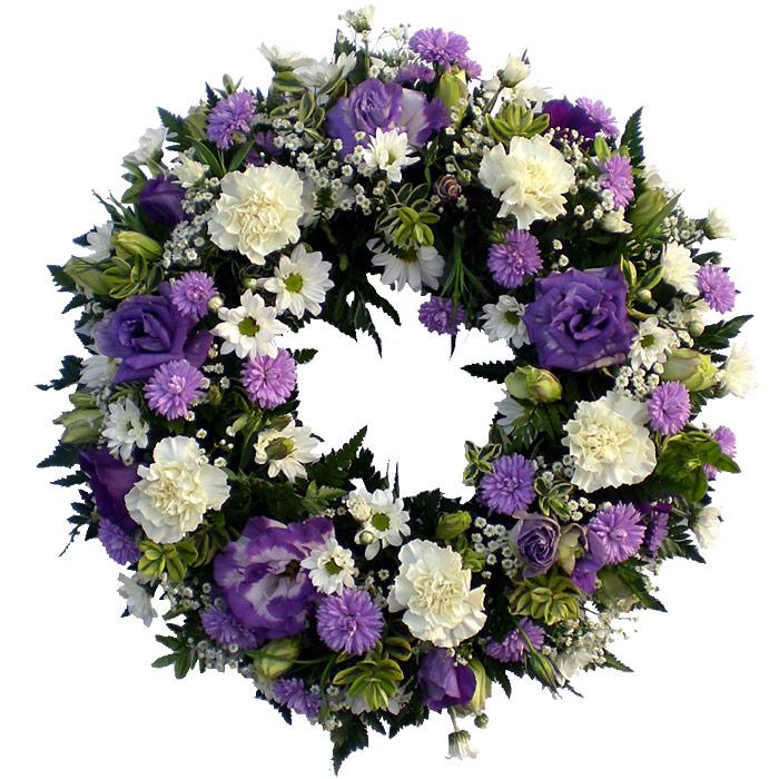 White And Purple Wreath