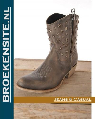 Sancho boots kort grijs used 10620-GR Broekensite jeans casual