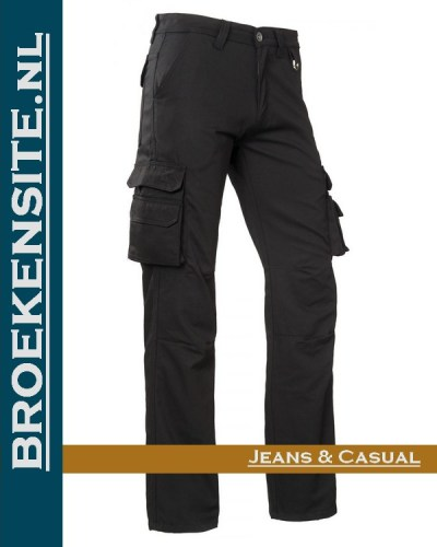 Brams Paris Ben black polyester canvas BP 1.3595-E53 Broekensite