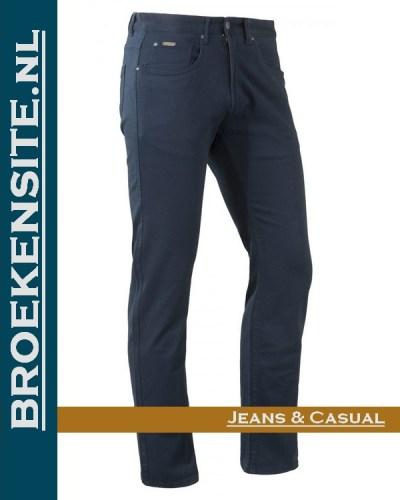 Brams Paris Hugo cotton twill navy BP 1.3100-E14-588 Broekensite jeans casual