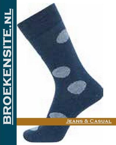 JBS Sokken blauw met stippen JBS 2000 81 2202