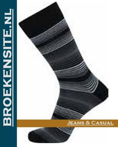 JBS Sokken zwart met streepjes JBS 2000 8100 2211 Broekensite